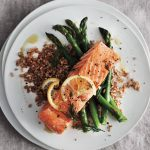 Lemon Baked Salmon With Asparagus.