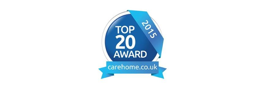 Top 20 Award for Hallmark Care Homes