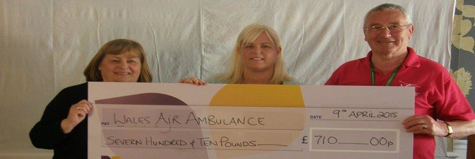 Cartref Annwyl-Fan Care Home raises over £700 for Welsh Air Ambulance