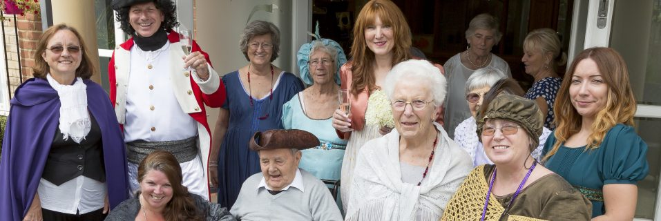 Admiral Court team members and residents dream up BBC Poldark-themed ceremony for general manager