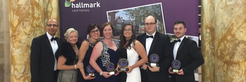 Hallmark Care Home team members win Gold 'Nurse of the Year' and 'Excellence in Catering in Care' award