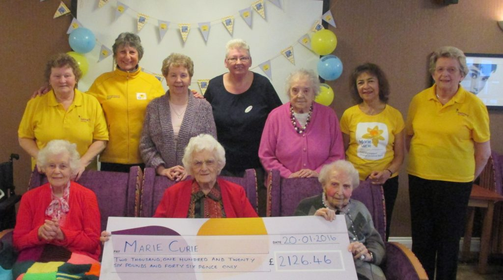 Ty Enfys raises over £2,000 for Marie Curie