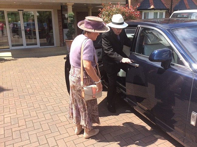 Jim Coffey entering car at care home