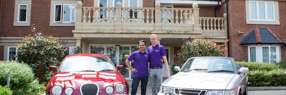 Daring duo from Hallmark Care Homes take on The Rusty Rally Challenge for charity