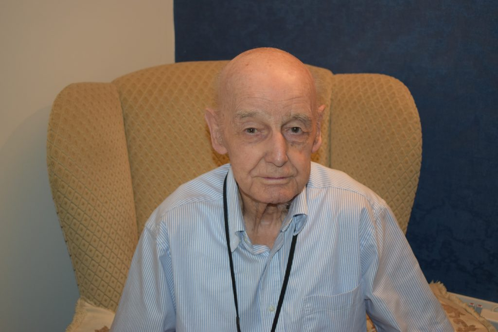 Resident Ron Smith, 96 shares his story about his career change to become a Vicar