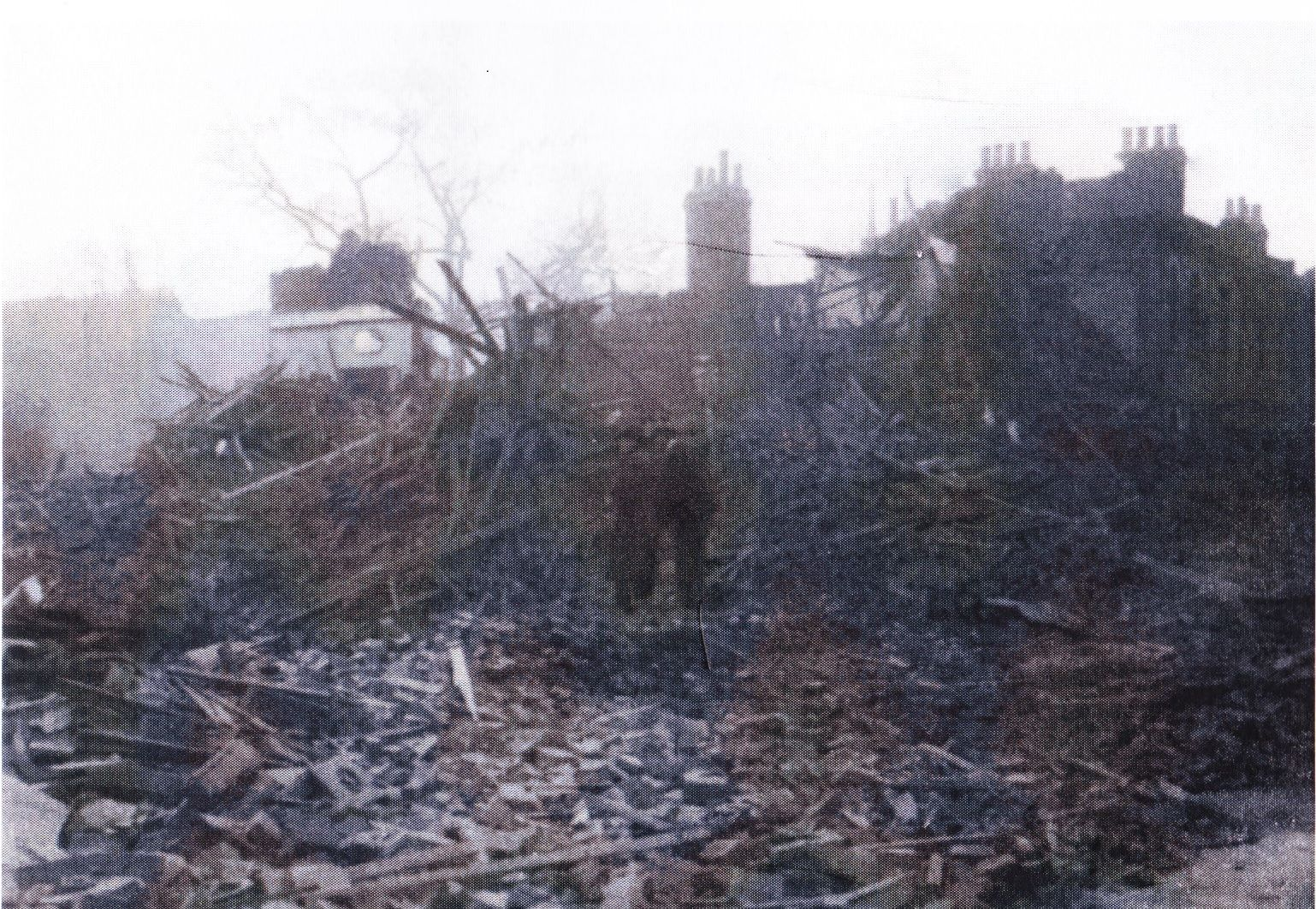 Middleton Road, London in the aftermath of the bomb explosion on 26th December 1940