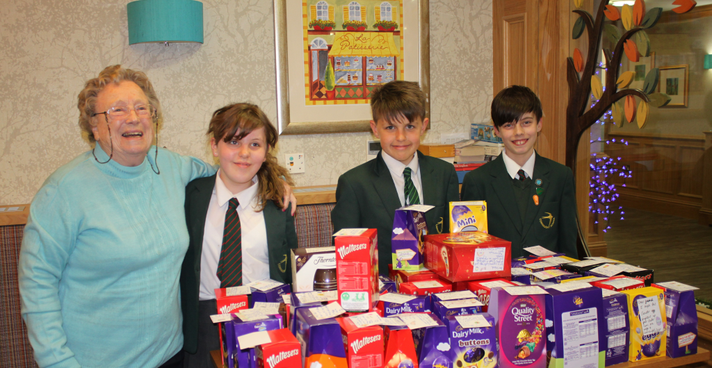 Lakeview residents receive Easter eggs from caring children at Connaught Junior School