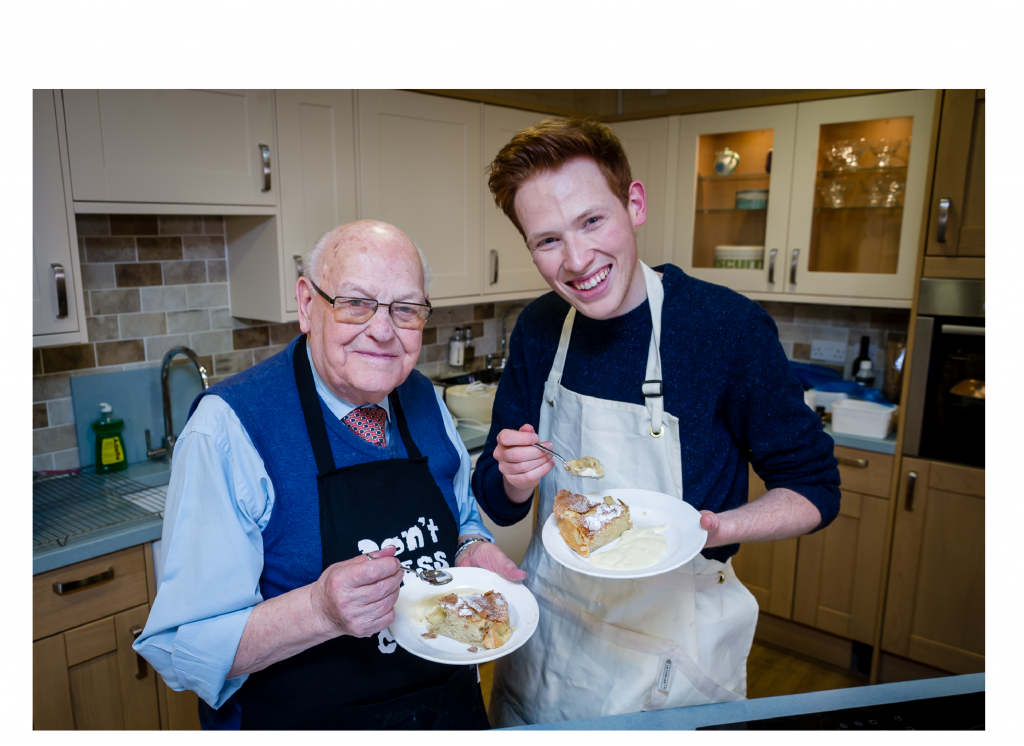 Great British Bake Off finalist gives surprise baking lesson to Kew House resident