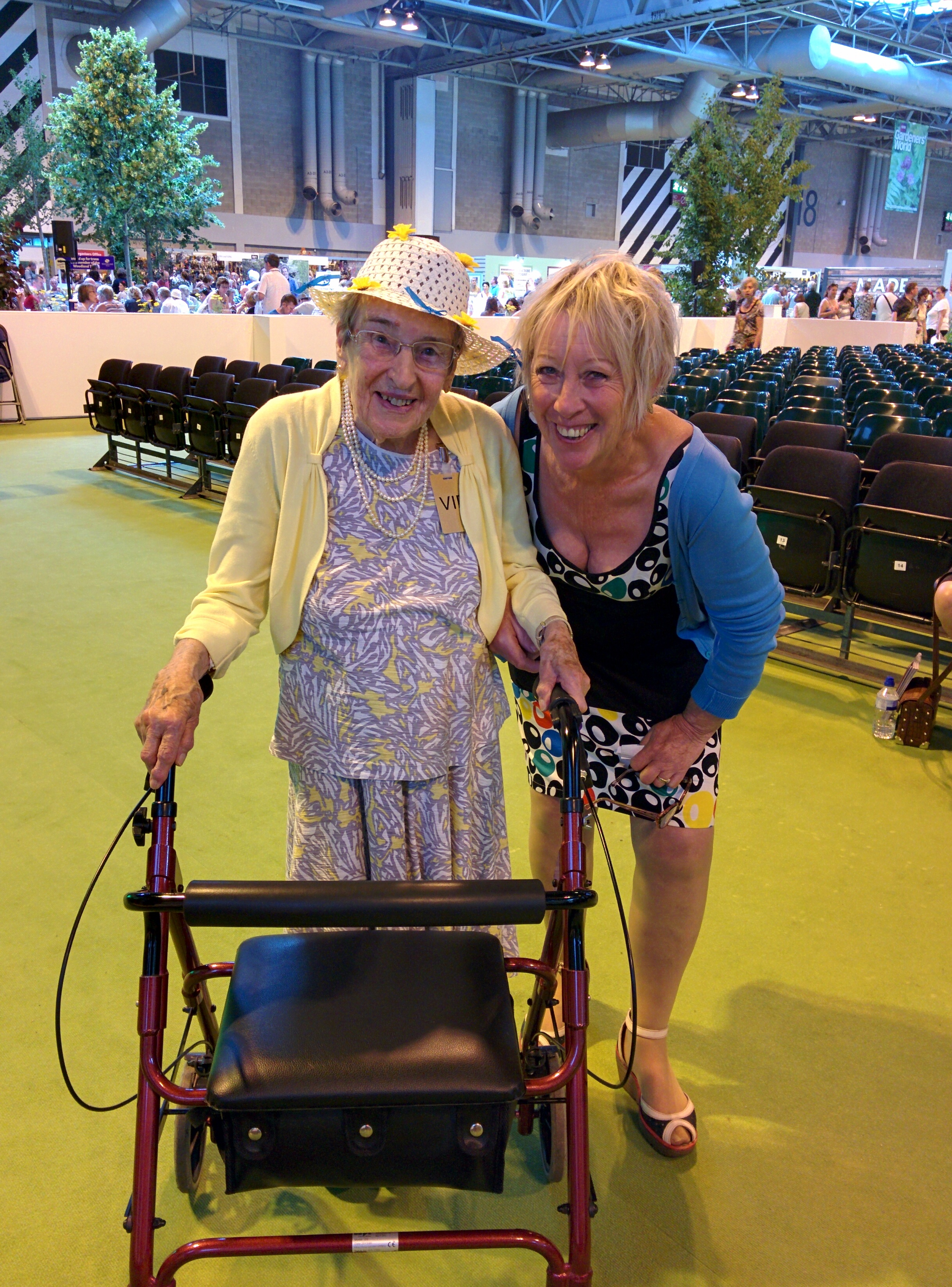 Stella, 93 with Carol Klein