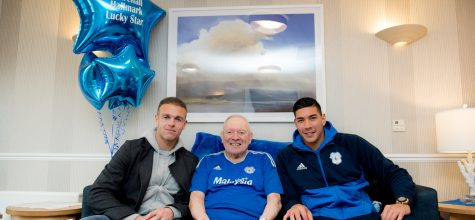 Hallmark Care Homes grants residents' wish to meet Cardiff City legends