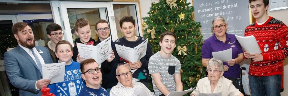 Only Boys Aloud choir performs with Greenhill Manor residents