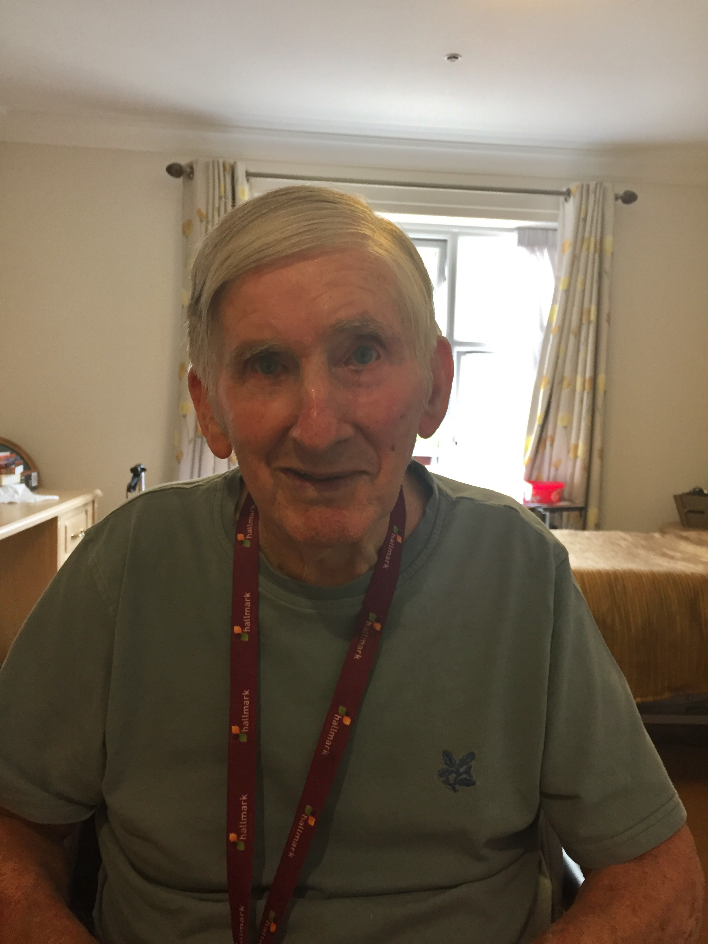 Les Payne, 88, a resident at Maycroft Manor Care Home