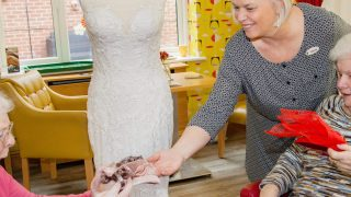 Anya Court Care Home receives visit from bespoke bridal shop