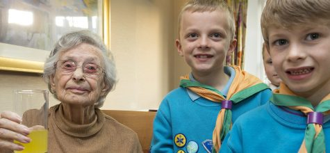 Ashingdon Beaver Scouts earn their community badge with Admiral Court residents