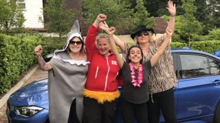 Lightwater care home host charity car wash