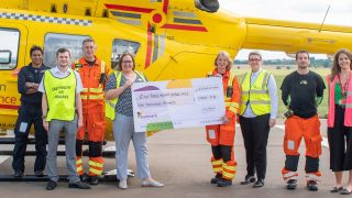 Arlington Manor donates £1000 to the East Anglian Air Ambulance