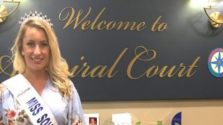 Miss Southend visits Admiral Court Care Home