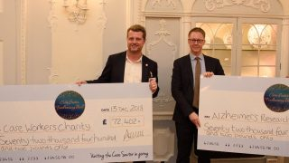 Hallmark Care Homes presents over £140,000 to Alzheimer's Research UK and the Care Workers Charity