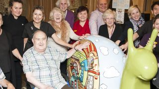 'Welcome Home' – Giant snail brings joy to Maycroft Manor Care Home residents