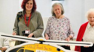 Arlington Manor Care Home donates £500 to East Anglian Air Ambulance
