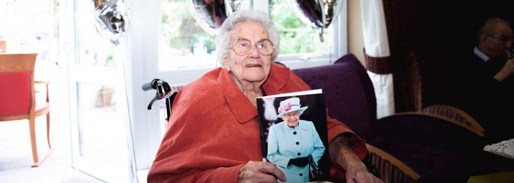 Ty Enfys resident celebrates 100th birthday