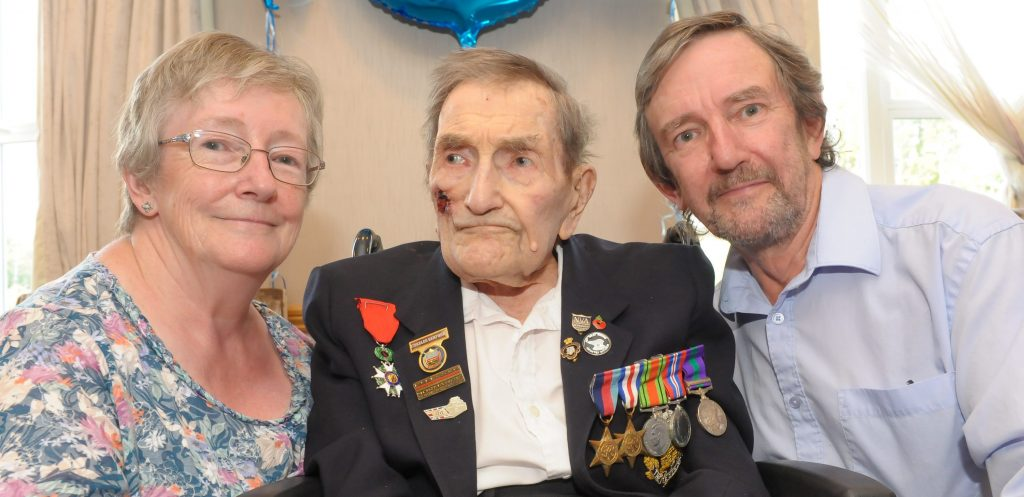 D-Day war hero celebrates 100th birthday
