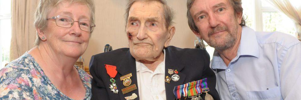 D-Day war hero celebrates 100th birthday