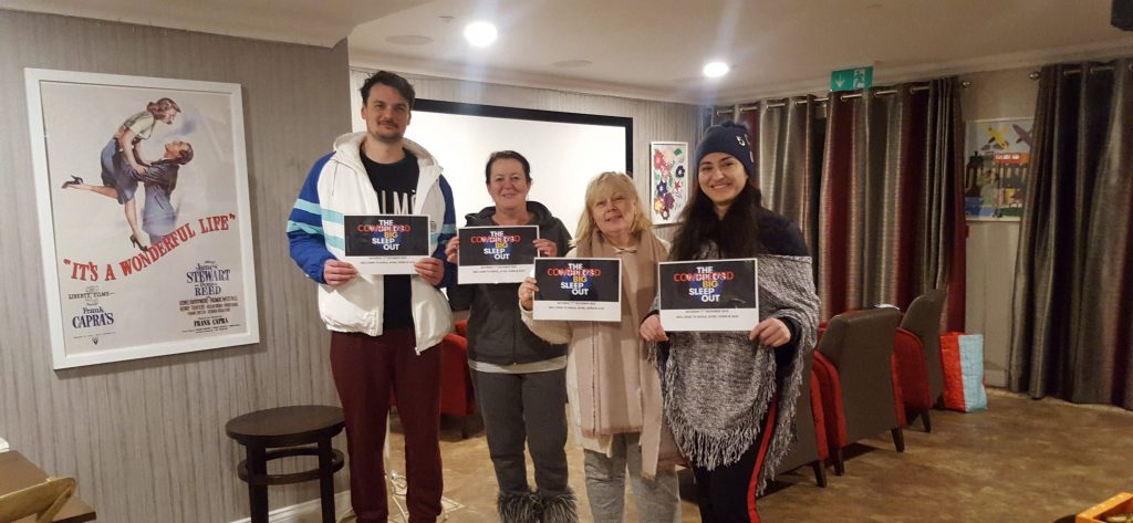 Shire Hall team raise £1,000 by taking part in the World's Big Sleep Out event