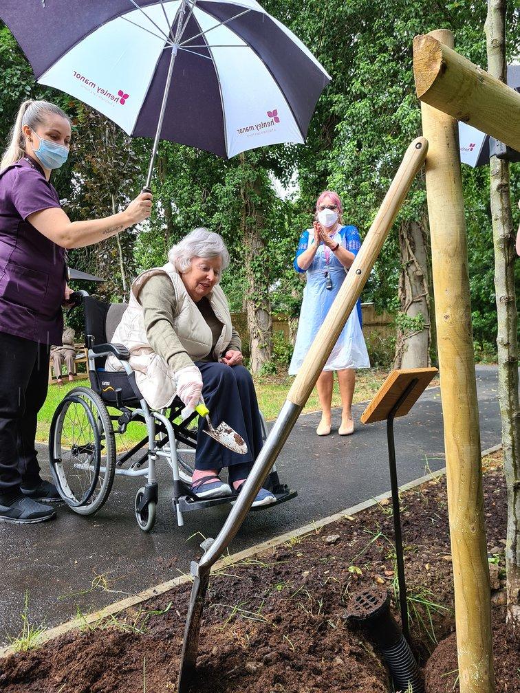Hallmark Care Homes plant trees to mark unity