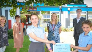 Anisha Grange and Billericay DAA present first Dementia Friendly Schools award