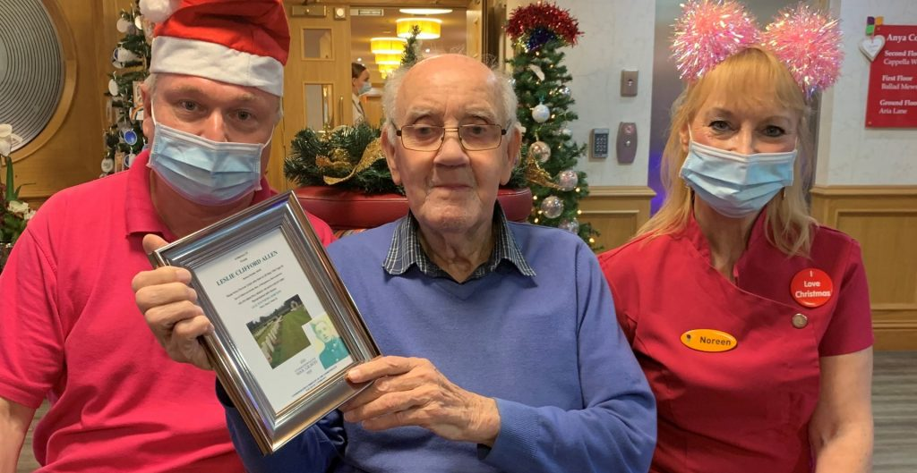 A Christmas gift to remember at Anya Court Care Home