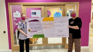 Anya Court raises £1,000 for the elderly care wards at University Hospitals Coventry and Warwickshire