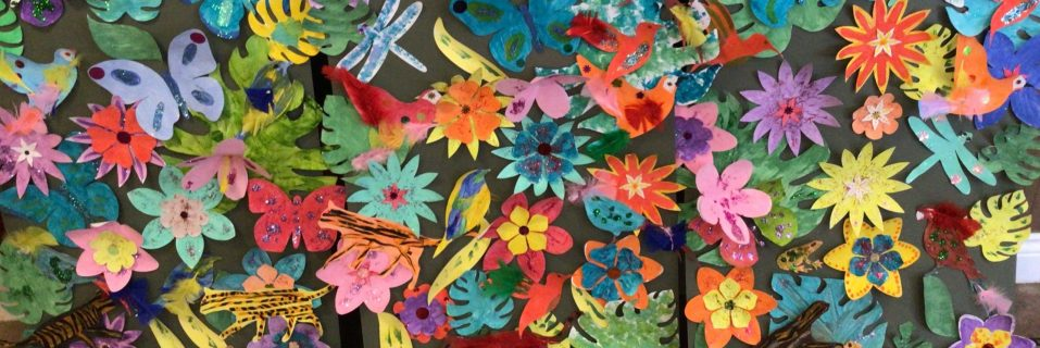 Ty Enfys residents create backdrop for primary school production